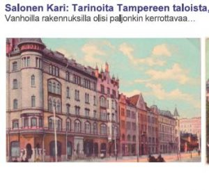 Tampere-aiheisia kokoelmia useita!